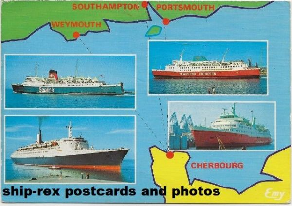 Cherbourg, English connections, postcard